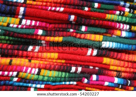 Colorful details of market in San Cristobal de las Casas - stock photo