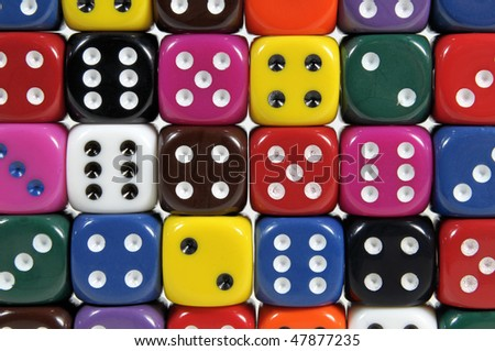 Colorful dices