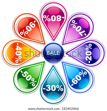 Colorful discount labels 8