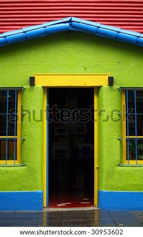Colorful district La Boca in Buenos Aires - stock photo