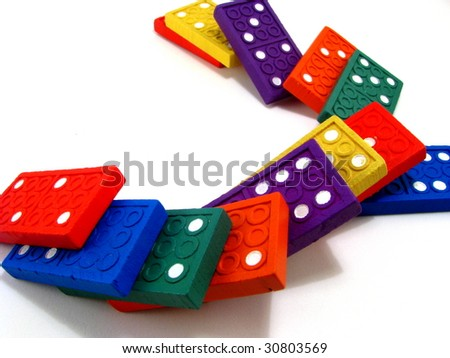 Colorful Dominoes - stock photo