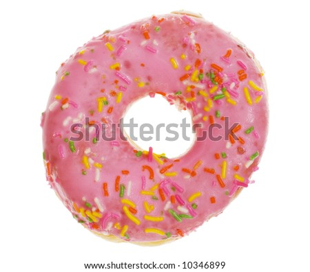 Colorful donut isolated on white background - stock photo