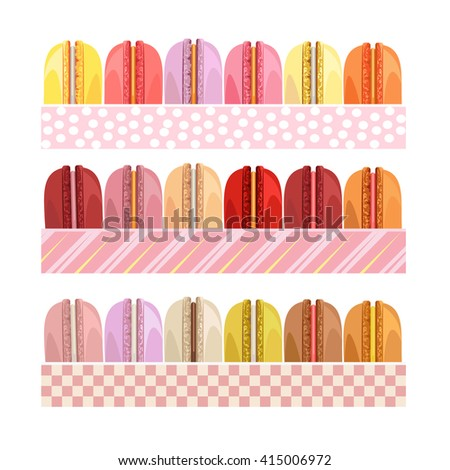 Colorful donuts icons detailed photo realistic set. Delicious desserts. Can be used for menu design. Assorted confectionery. Yummy cupcakes, donuts. Tasty sweets. Collection of bakery products - stock photo
