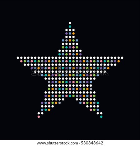 colorful dot theme art star