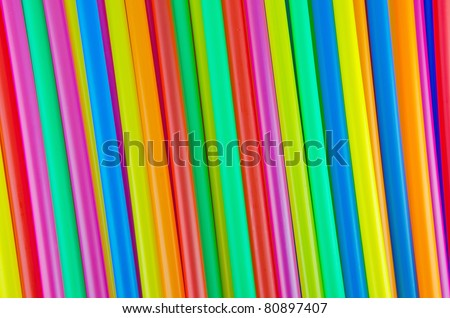 Colorful drinking straws background. - stock photo