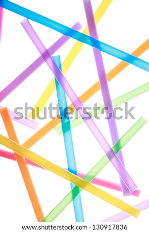 Colorful drinking straws close up abstract background - stock photo