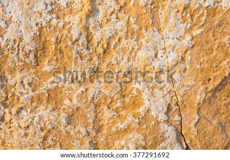 Colorful dry saline soil grunge surface with salt stain  on soil surface - stock photo