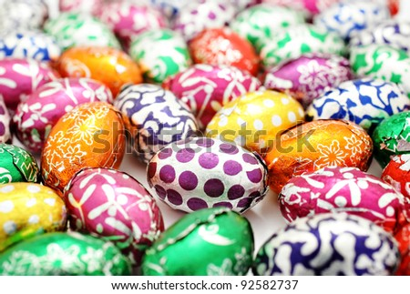Colorful easter egg background - stock photo