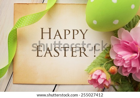 colorful easter frame background - stock photo