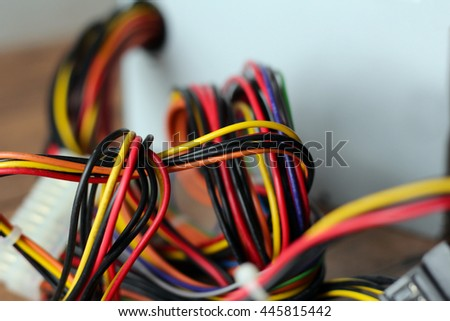 colorful electric cables