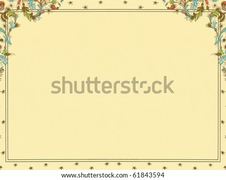 colorful elegant floral decorative framed paper   background. More of this motif & more ornaments in my port.
