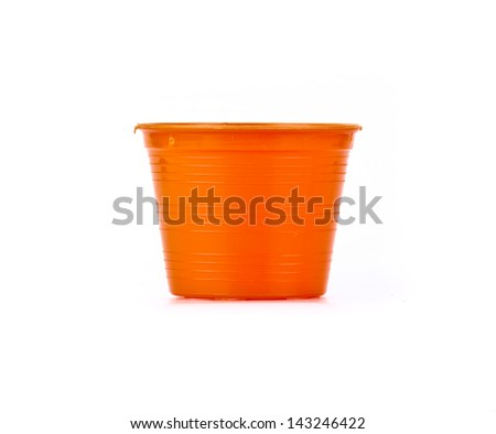 Colorful Empty flower pot. Isolated on white background