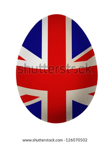 Colorful England, United Kingdom flag Easter egg isolated on white background