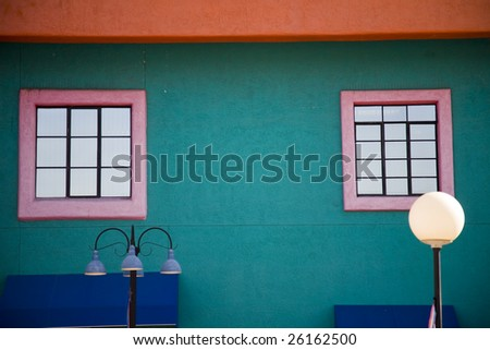 Colorful exterior in Tucson, Arizona - stock photo
