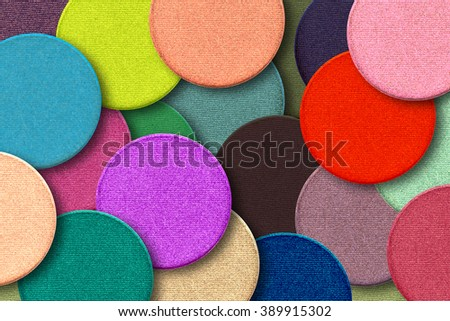 colorful eye shadows background - stock photo