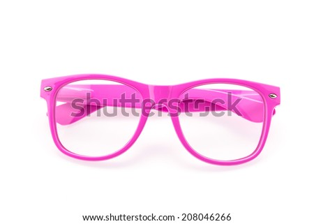 Colorful Eyeglasses isolated on white
