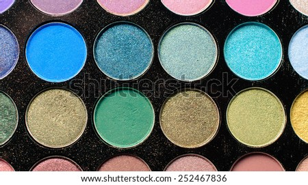 Colorful eyeshadow make up palette - stock photo