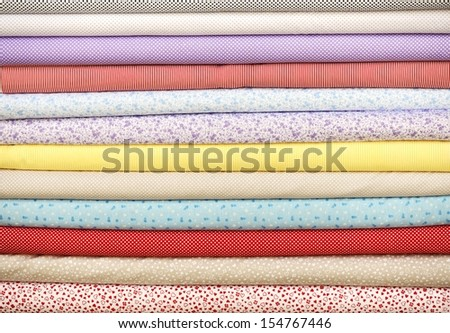 Colorful fabric - stock photo