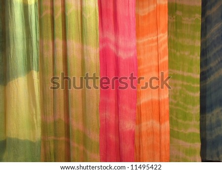 Colorful Fabric -- a selection of cloth with different patterns and colors