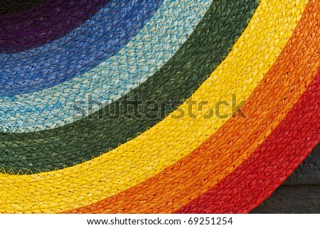 Colorful fabric background - stock photo