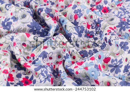 Colorful fabric for background, close-up image. - stock photo