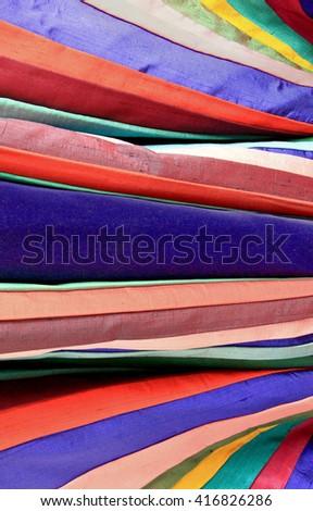 Colorful fabrics - stock photo