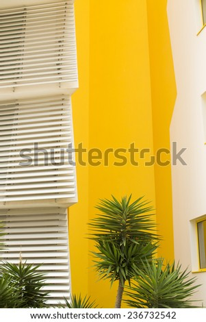 Colorful facade of a modern house - stock photo