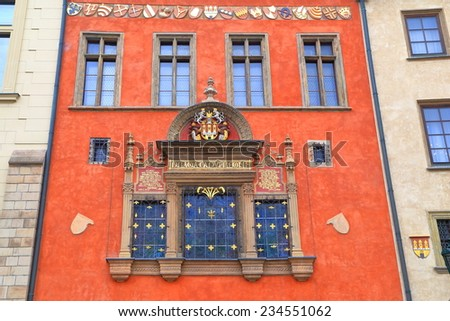 Colorful facade on the streets of Prague Old Town, Czech Republic - stock photo