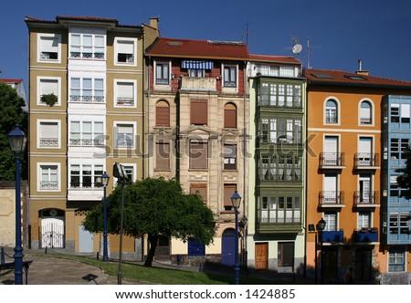 Colorful facades - stock photo