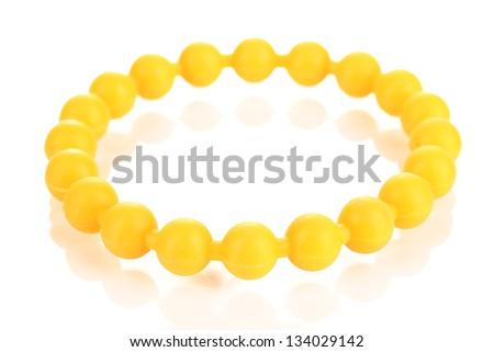 Colorful fashion bracelet isolated on white - stock photo