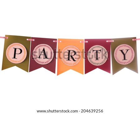 Colorful festive swag banner for party decoration - stock photo