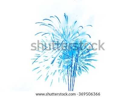 colorful firework Background for display or montage products - stock photo