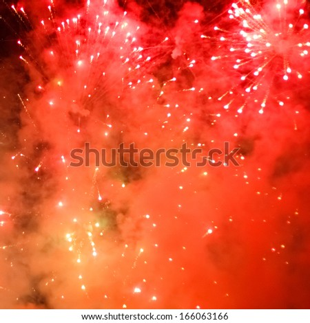 colorful fireworks against night background for new year celebration
