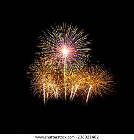 Colorful fireworks light on the sky - stock photo