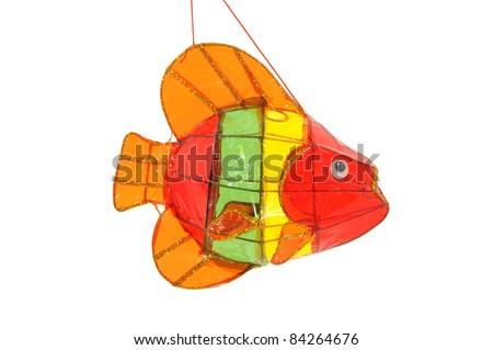 Colorful Fish Lantern Isolated On White Background - stock photo