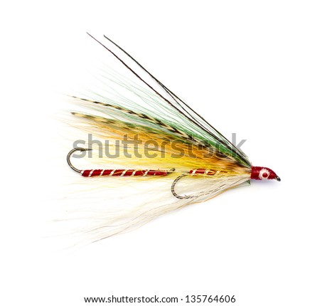 colorful fishing streamer - stock photo