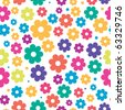 Colorful floral background. Jpeg version - stock vector