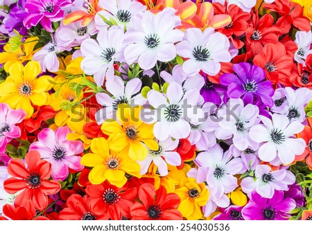 colorful flowers abstract background - stock photo