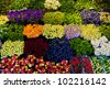 Colorful flowers in a florist's. Gardening, spring, nature background - stock photo