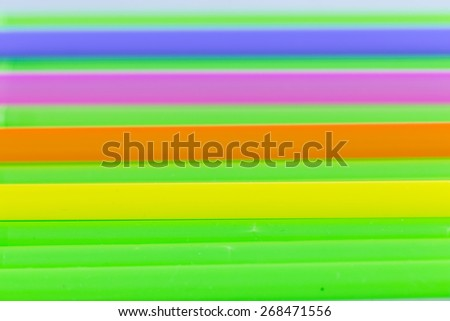 colorful focus at yellow of drinking straw background - stock photo