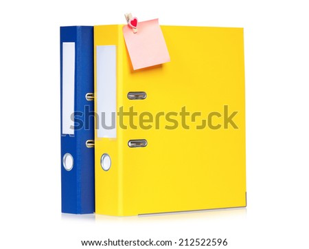 Colorful folders - stock photo