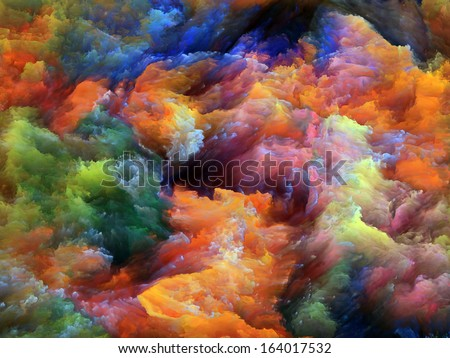 Colorful fractal foam suitable for backgrounds on subject of design, imagination and creativity. - stock photo