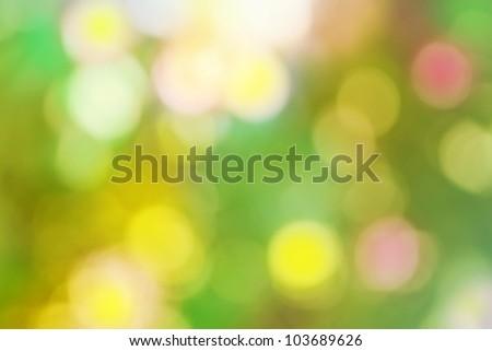 colorful, fresh, blurred background, bokeh solar flare - stock photo