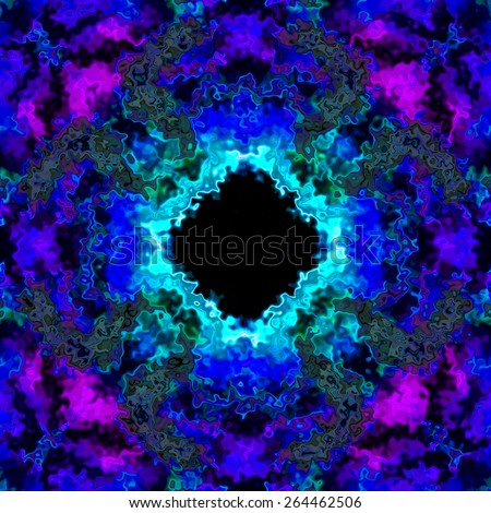 Colorful frozen sharp ice in blue purple 3D illusion made seamless - stock photo