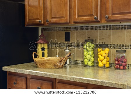 kitchen countertops decor - Kitchen Counter Decorating Ideas