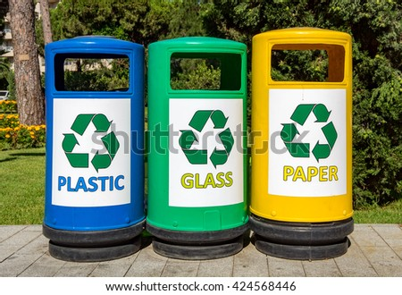 Colorful Garbage bins