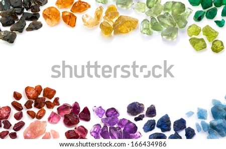 Colorful gems. - stock photo