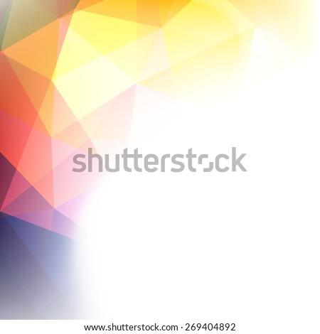 Colorful geometric background  - raster version - stock photo