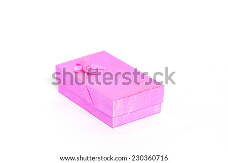 colorful gifts box on white.