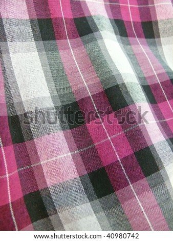colorful gingham fabric closeup. More of this motif & more textiles in my port. - stock photo